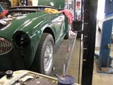 1967 Austin Healy 3000 New Fenders Installed